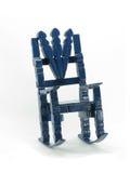 niebieski krzesło rock zabawkę Fotografia Stock
