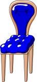 niebieski krzesło Obrazy Royalty Free