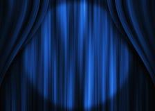 niebieski kurtyna teatr zdjęcia royalty free
