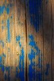 niebieski lakier obierania drewna obrazy stock