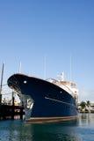 niebieski luksusowy jacht Obraz Royalty Free