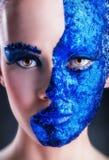 niebieski makijaż Zdjęcia Stock
