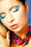 niebieski makijaż Obrazy Royalty Free