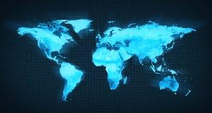 niebieski mapa świata Fotografia Stock