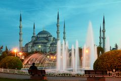 niebieski meczetu Fotografia Royalty Free