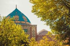 niebieski meczetu Elegancki islamski budynek Podróż Armenia, Kaukaz Turystyczny architektura punkt zwrotny Zwiedzać w Yerevan cit Zdjęcia Royalty Free