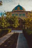 niebieski meczetu Elegancki islamski masjid budynek Podróż Armenia, Kaukaz Turystyczny architektura punkt zwrotny Zwiedzać Yereva zdjęcie stock