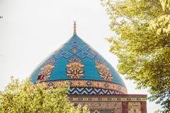 niebieski meczetu Elegancki islamski masjid budynek Podróż Armenia, Kaukaz Turystyczny architektura punkt zwrotny Zwiedzać w Yere zdjęcie royalty free