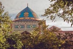 niebieski meczetu Elegancki islamski masjid budynek Podróż Armenia, Kaukaz Turystyczny architektura punkt zwrotny Zwiedzać w Yere zdjęcie stock