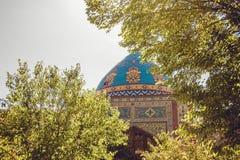 niebieski meczetu Elegancki islamski masjid budynek Podróż Armenia, Kaukaz Turystyczny architektura punkt zwrotny Zwiedzać w Yere zdjęcia royalty free
