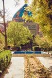 niebieski meczetu Elegancki islamski masjid budynek Podróż Armenia Turystyczny architektura punkt zwrotny Zwiedzać w Yerevan Mias fotografia stock