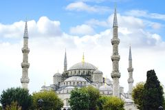 niebieski meczetu Istanbuł, Turcja Obraz Royalty Free