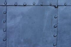 niebieski metalowa płytka Fotografia Royalty Free