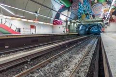 niebieski metro hue stacji metra zdjęcie royalty free