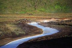 niebieski milky strumień siarki Zdjęcia Royalty Free