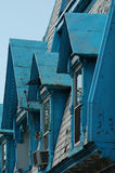 niebieski Montrealu stary dach fotografia stock