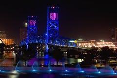niebieski most Jacksonville. obraz royalty free