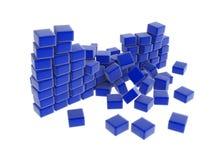 niebieski mur odeszły ilustracji