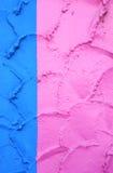 niebieski mur różowego Fotografia Royalty Free