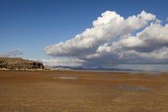 niebieski na plaży Obraz Royalty Free