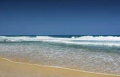niebieski na plaży Obraz Stock