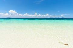 niebieski na plaży Zdjęcie Royalty Free