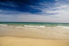 niebieski na plaży Obrazy Stock