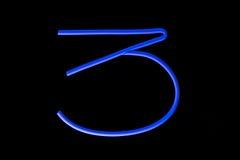 niebieski neon Zdjęcie Stock