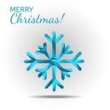 niebieski płatek śniegu Zdjęcie Stock