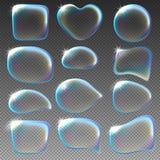 niebieski płyn do struktur tonacja mydła royalty ilustracja