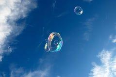 niebieski płyn do struktur tonacja mydła Zdjęcia Royalty Free
