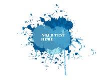 niebieski plusk Obrazy Stock