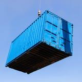 niebieski pojemnika Fotografia Stock