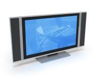 niebieski pokaz lcd telewizor royalty ilustracja
