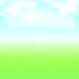 niebieski pola zielone niebo Zdjęcia Royalty Free