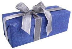 niebieski prezent Obrazy Stock