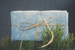 niebieski prezent Obraz Stock