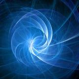 niebieski promień spirali Fotografia Stock