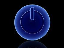 niebieski przycisk moc Obraz Royalty Free