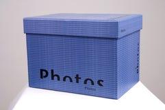 niebieski pudełka foto Zdjęcia Stock