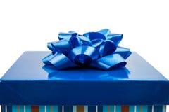 niebieski pudełka prezent Obrazy Royalty Free