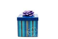 niebieski pudełka prezent Obraz Royalty Free