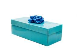 niebieski pudełka prezent Fotografia Stock