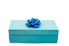 niebieski pudełka prezent Zdjęcia Stock