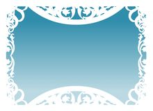 niebieski ramowy wektora Obraz Stock