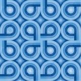 niebieski retro tkanina wzoru Fotografia Stock