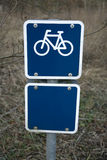 niebieski rowerowy znak Zdjęcia Royalty Free