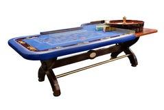 niebieski ruletka stół Zdjęcia Stock