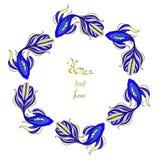 niebieski ryby rama Obrazy Royalty Free