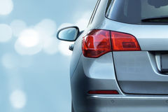 niebieski samochód Fotografia Stock